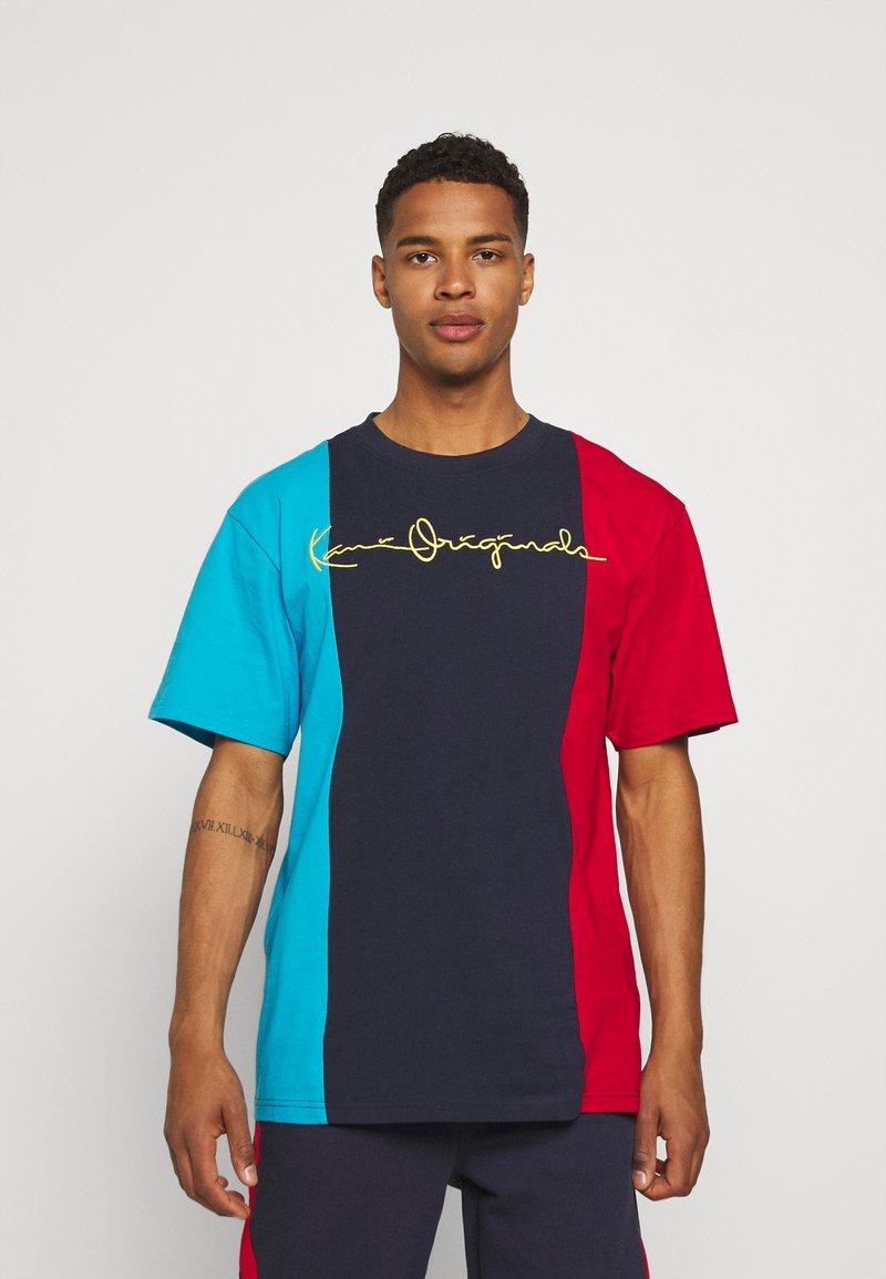 Karl Kani - ORIGINALS BLOCK TEE - Print T-shirt - navy