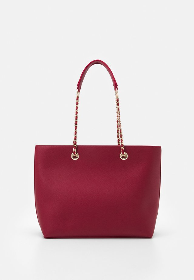 CHAIN HANDLE - Shopping Bag - dark red/gold