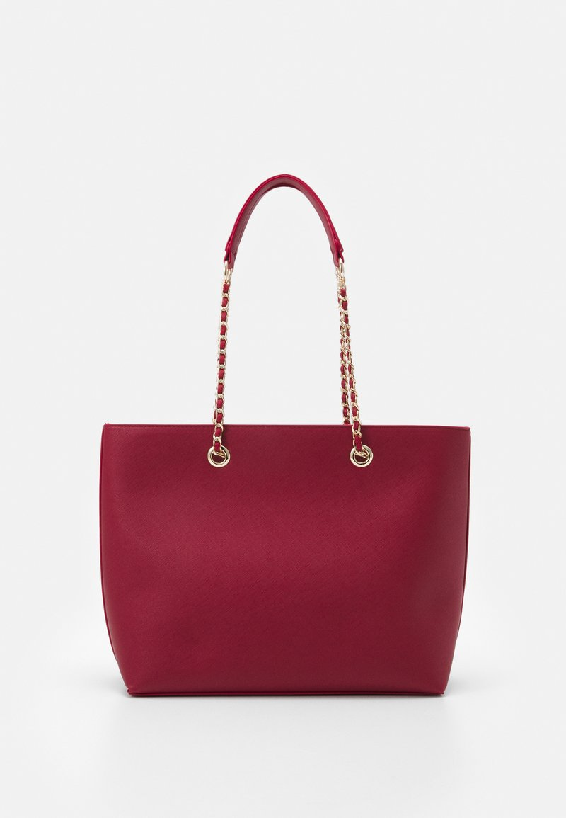 Dorothy Perkins - CHAIN HANDLE - Shopper - dark red/gold