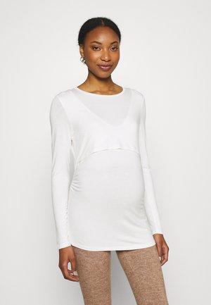 MOM VERA - Long sleeved top - light white