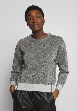 SPARKEL ZIPPERS - Sweatshirt - silver
