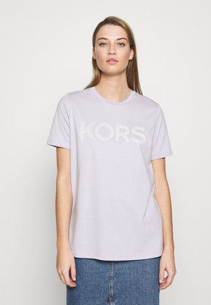 T-shirt med print - lavender mist