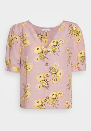 DELANCY BUTTON DOWN FLORAL PRINT - Blouse - twiggy wisteria dove