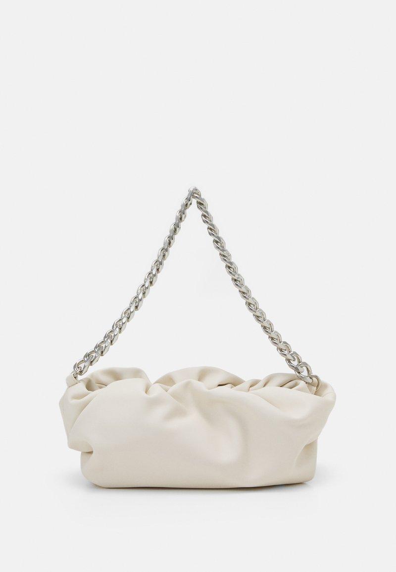 Pieces - PCABI SHOULDER BAG - Across body bag - cloud dancer/silver-coloured