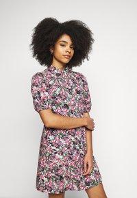 Vero Moda Petite - VMANNELINE DRESS - Shirt dress - black/yellow - 0