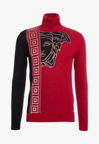 Versace Collection - Jumper - rosso/nero/beige - 4
