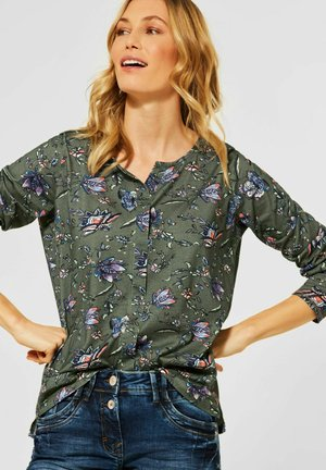 FLOWER-PRINT - Blouse - grün