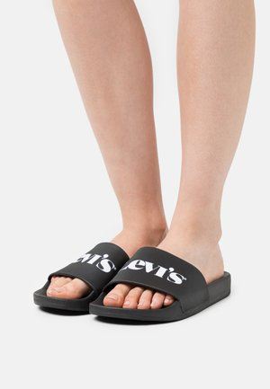 JUNE MONO  - Pantolette flach - regular black