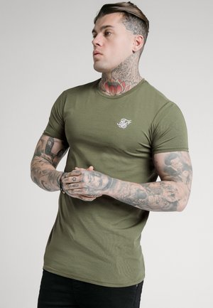 SHORT SLEEVE GYM - Camiseta básica - khaki