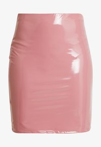 Nly by Nelly - PATENT SHORT SKIRT - Minisukně - dark pink - 3