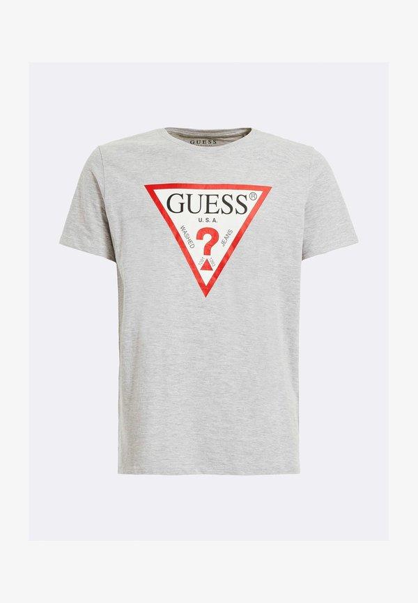 Guess T-shirt z nadrukiem - hellgrau/jasnoszary Odzież Męska AKQY