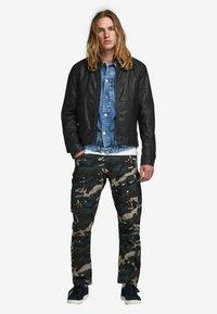Jack & Jones - Leather jacket - black - 1