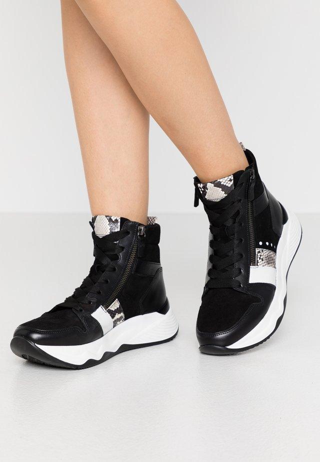 Zapatillas altas - schwarz/weiß