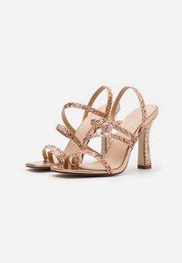 BEBO - MINTY - Sandały na obcasie - rose gold glitter - 2