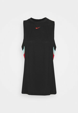 DRY STRIPE - Top - black/chile red