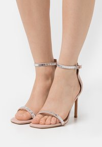 ONLY SHOES - ONLALYX LIFE STONE  - Sandály na vysokém podpatku - beige - 0