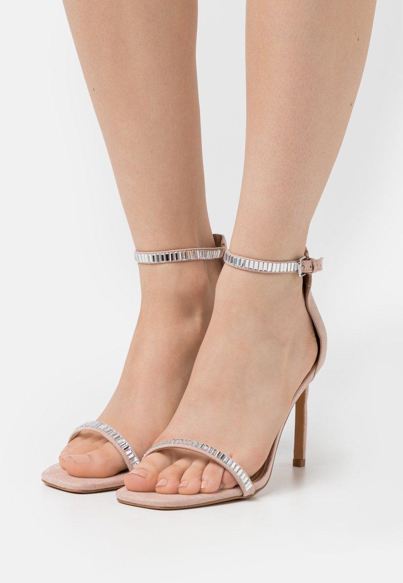 ONLY SHOES - ONLALYX LIFE STONE  - Sandály na vysokém podpatku - beige