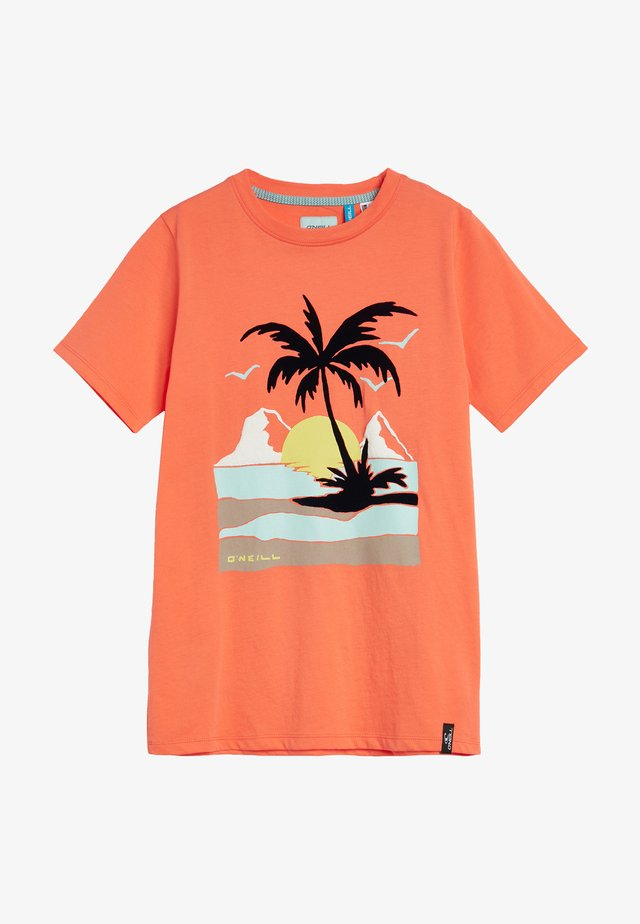 PALM  - T-shirt print - living coral