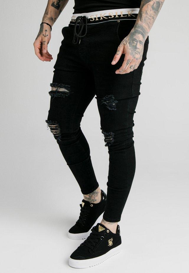 SIKSILK DELUXE LOW RISE - Skinny džíny - black