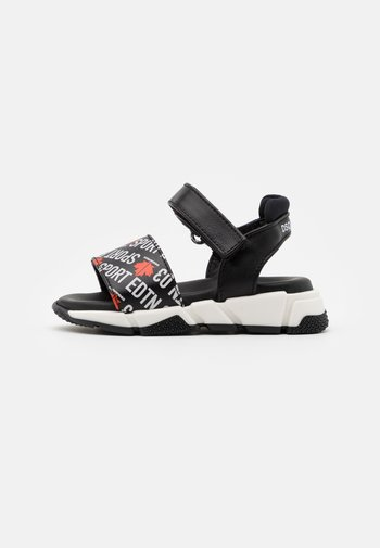 UNISEX - Sandaalit nilkkaremmillä - black