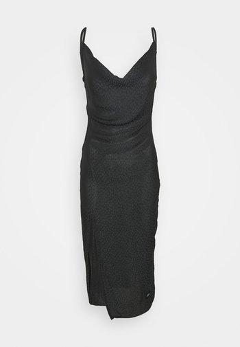LEOPARD DRESS - Vestito elegante - black