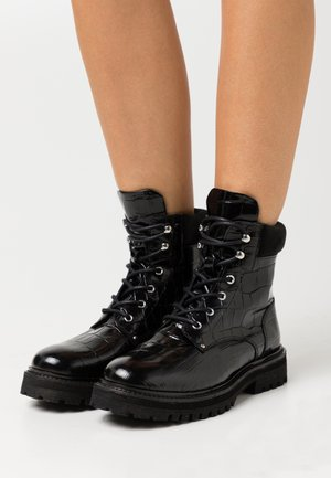 YASALMIRA BOOTS - Lace-up ankle boots - black