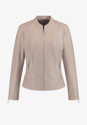 Leather jacket - toffee