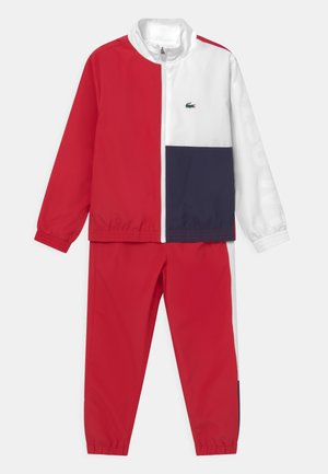 SET UNISEX - Tracksuit - ruby/white/navy blue