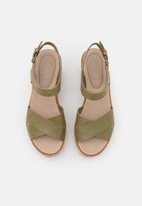 Timberland - KORALYN X STRAP - Platform sandals - olive - 5