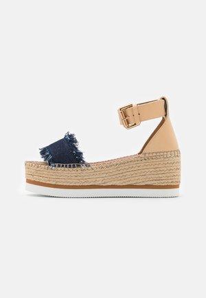 GLYN PLATFORM - Loafers - navy