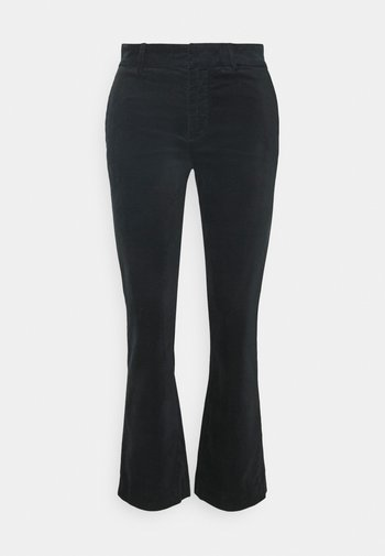 CROPPED BOOT - Trousers - black