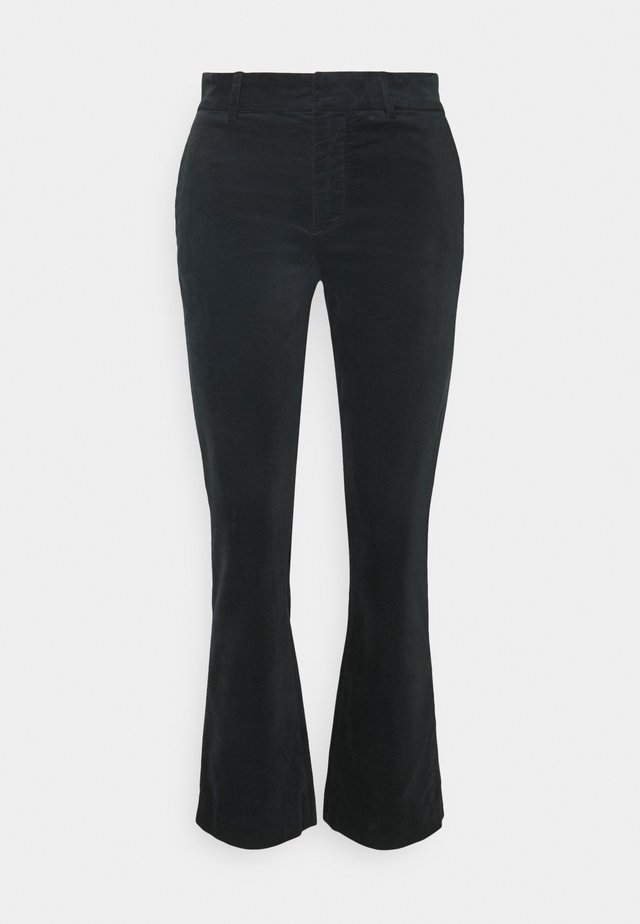 CROPPED BOOT - Pantalon classique - black