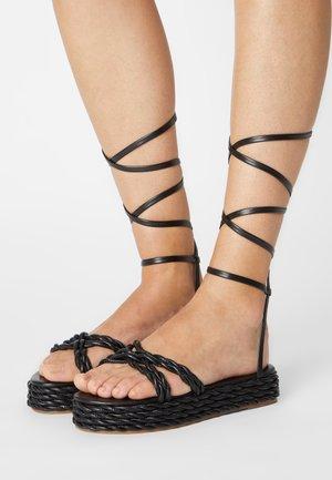 REESE - Platform sandals - black