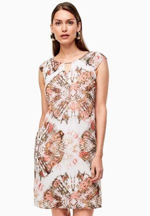 Day dress - white batik print