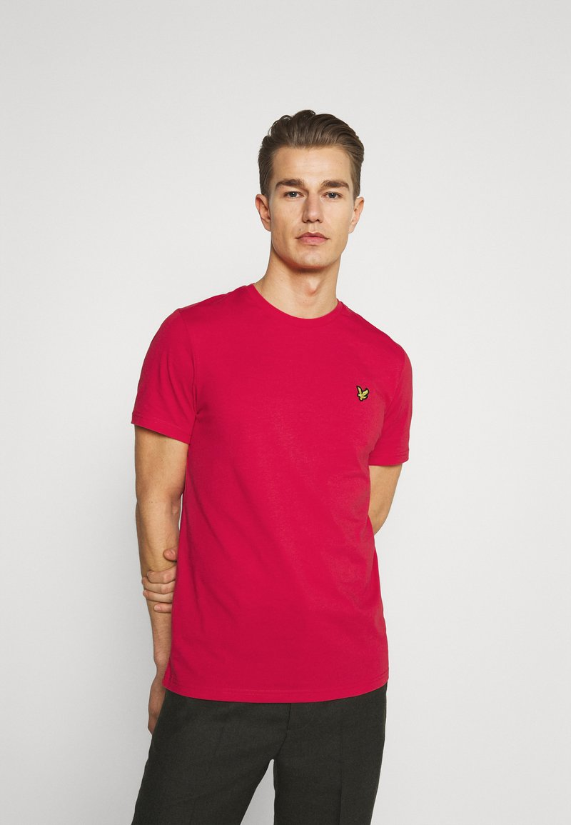 Lyle & Scott - PLAIN - Basic T-shirt - gala red