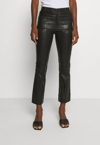 Ibana - ESTELLE - Leather trousers - black - 0