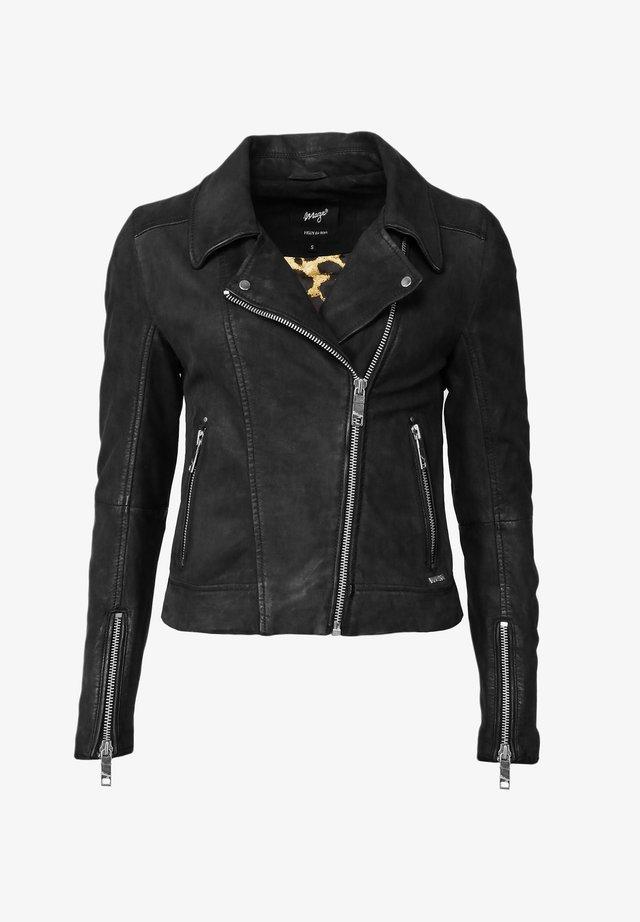 ROMIE - Leren jas - black