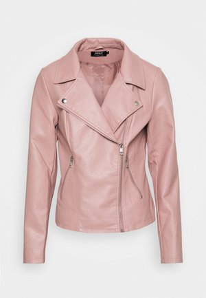 ONLMELISA BIKER - Faux leather jacket - woodrose