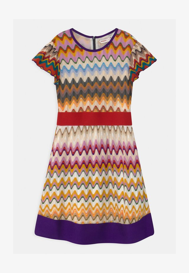 ABITO MANICA CORTA CON BALZA - Jumper dress - multi-coloured
