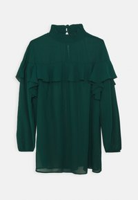 Simply Be - RUFFLE FRONT BLOUSE - Blouse - emerald green - 0