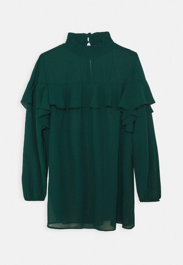 RUFFLE FRONT BLOUSE - Camicetta - emerald green
