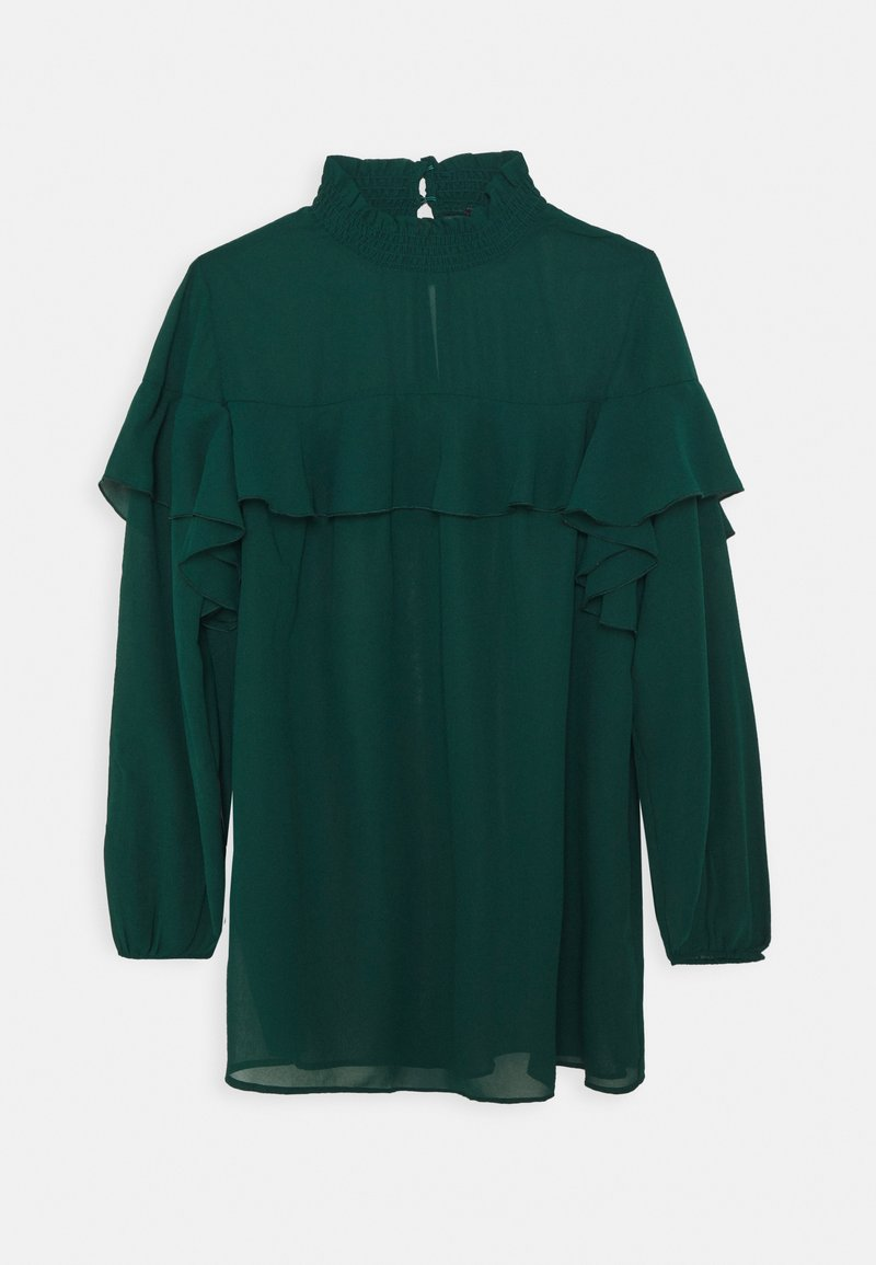 Simply Be - RUFFLE FRONT BLOUSE - Blouse - emerald green