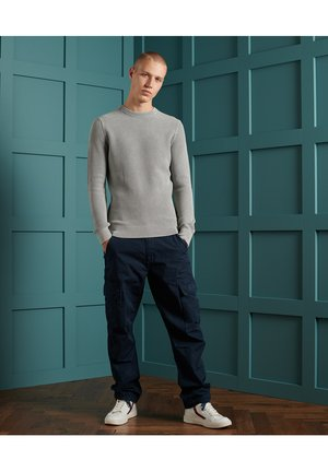 ACADEMY DYED TEXTURE CREW - Jumper - washed skylark