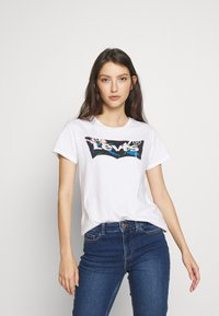 Levi's® - THE PERFECT TEE - T-Shirt print - floral filled batwing white - 0