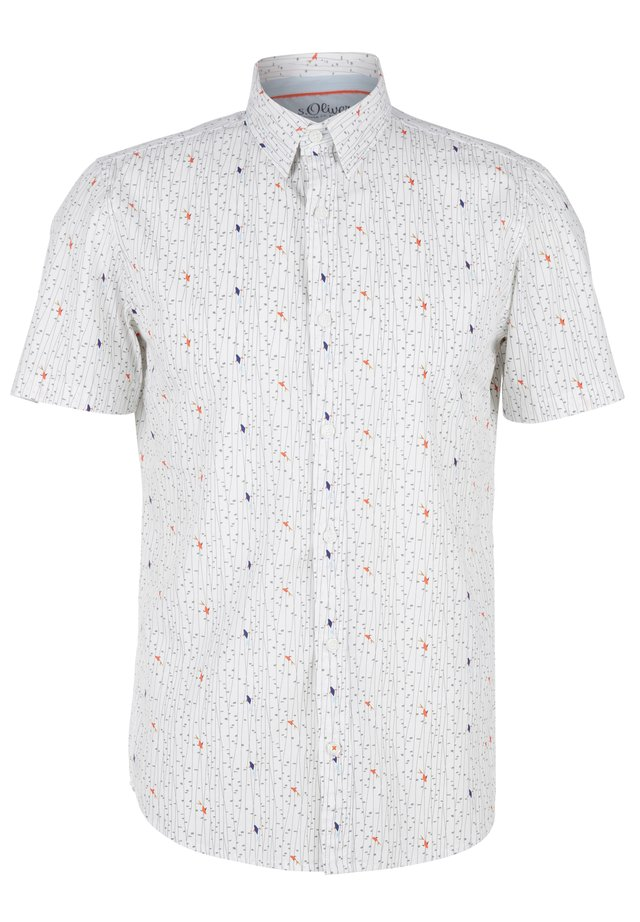 ALLOVERMUSTER - Shirt - white aop