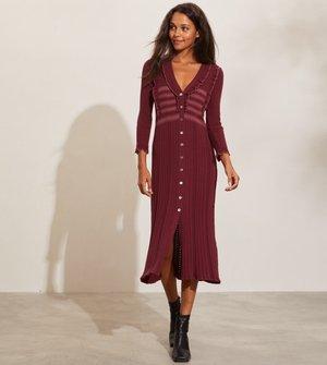 EZRA - Jumper dress - dark maple