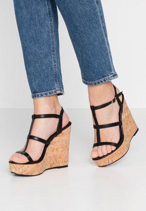 BURTON - Sandály na vysokém podpatku - black