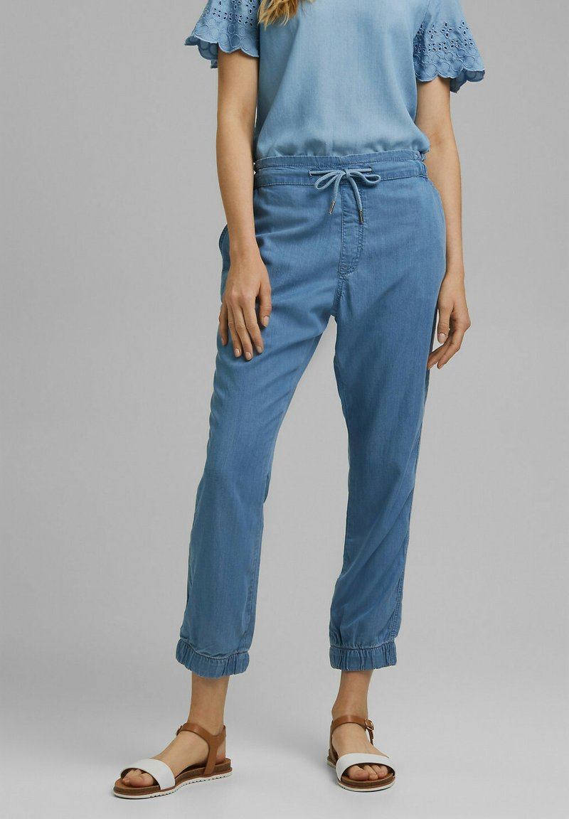 edc by Esprit - JOGGER - Trousers - blue light washed