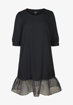 MIT PUFFÄRMELN - Day dress - black