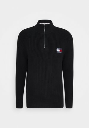 BADGE HALFZIP - Trui - black